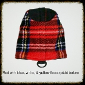 Red Plaid Fleece Bolero