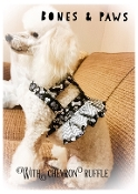 """Bones and Paws"" dog harness with or with out a ruffle"