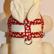Red Snowman Winter Holliday Harness