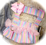 Bandanna Harness, with a ruffle and bow if you choose