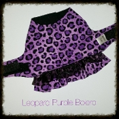 Leopard Purple Bolero