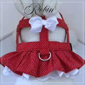 Dogs and Paws Harness - Custom Easy-On designer dog harnesses made with a ruffle or with out ruffles
